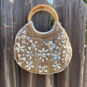 Coldwater Creek small bag w/embroidered shells